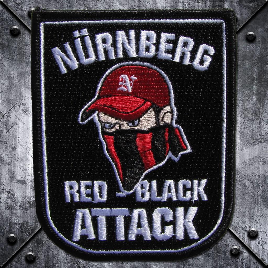 Aufnäher 'Nürnberg  Red Black Attack' Fan