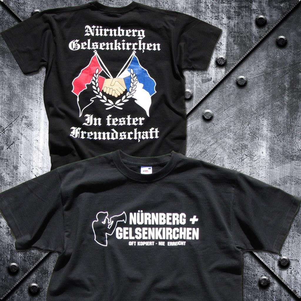 T-Shirt 'Nürnberg + Gelsenkirchen  oft kopiert - nie erreic
