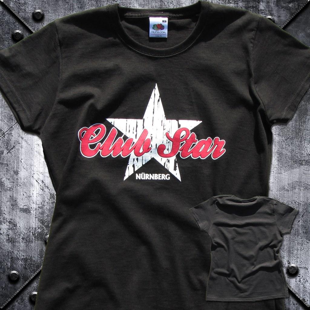 T-Shirt  einseitig bedruckt  Damen 'Club Star  Nürnberg'