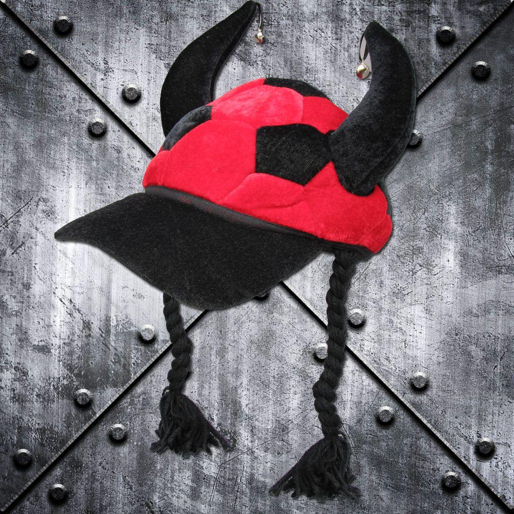 Cap 'Teufelshörner' Rot/Schwarz