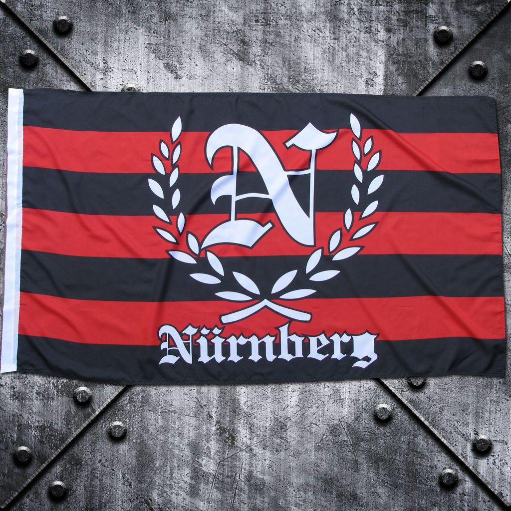 Fahne 'Nürnberg'  N im Lorbeerkranz