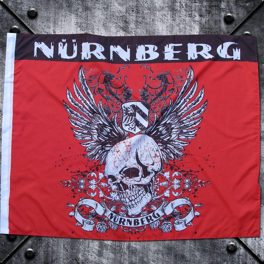 Fahne 'Nürnberg' Totenkopf