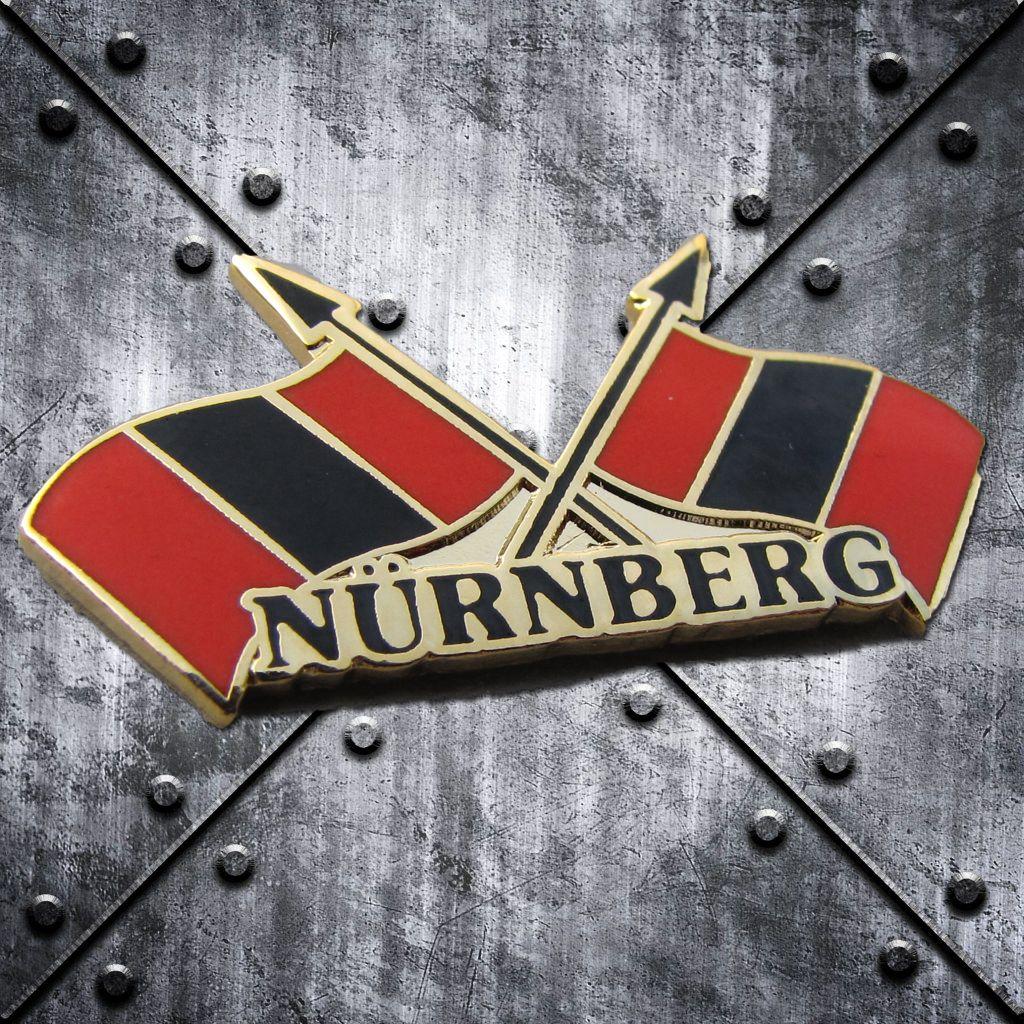 PIN 'Nürnberg' Fahnen  rot/schwarz/rot