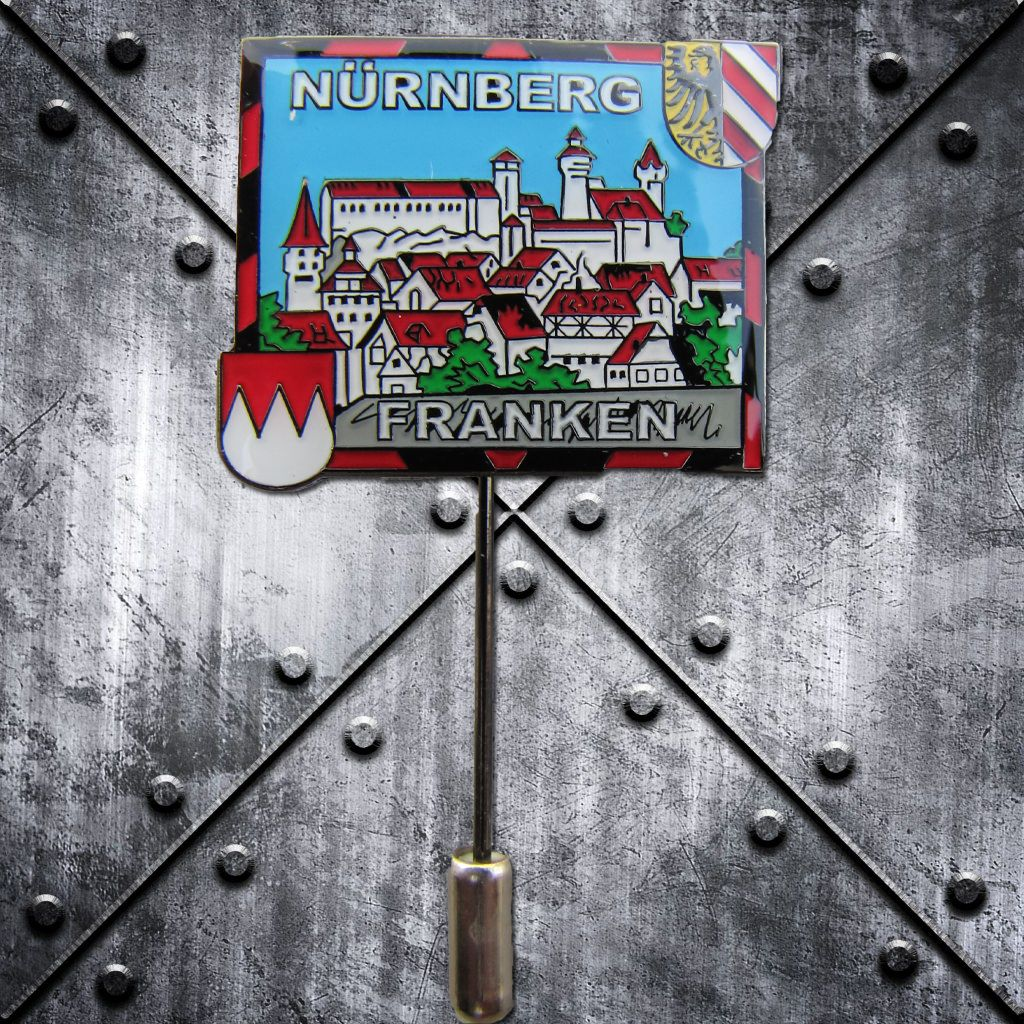 PIN 'Nürnberg Franken' Burg farbig