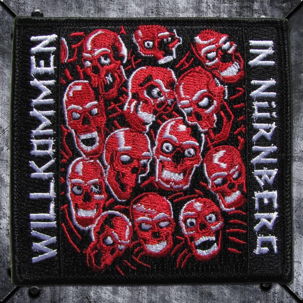 Aufnäher 'Willkommen in Nürnberg' Red Skulls