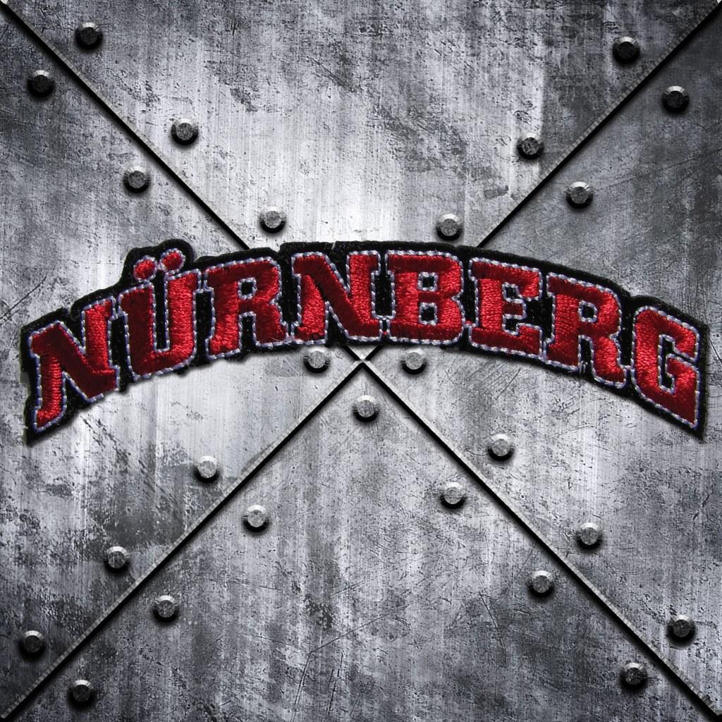 Aufnäher 'Nürnberg' Rot/Schwarz