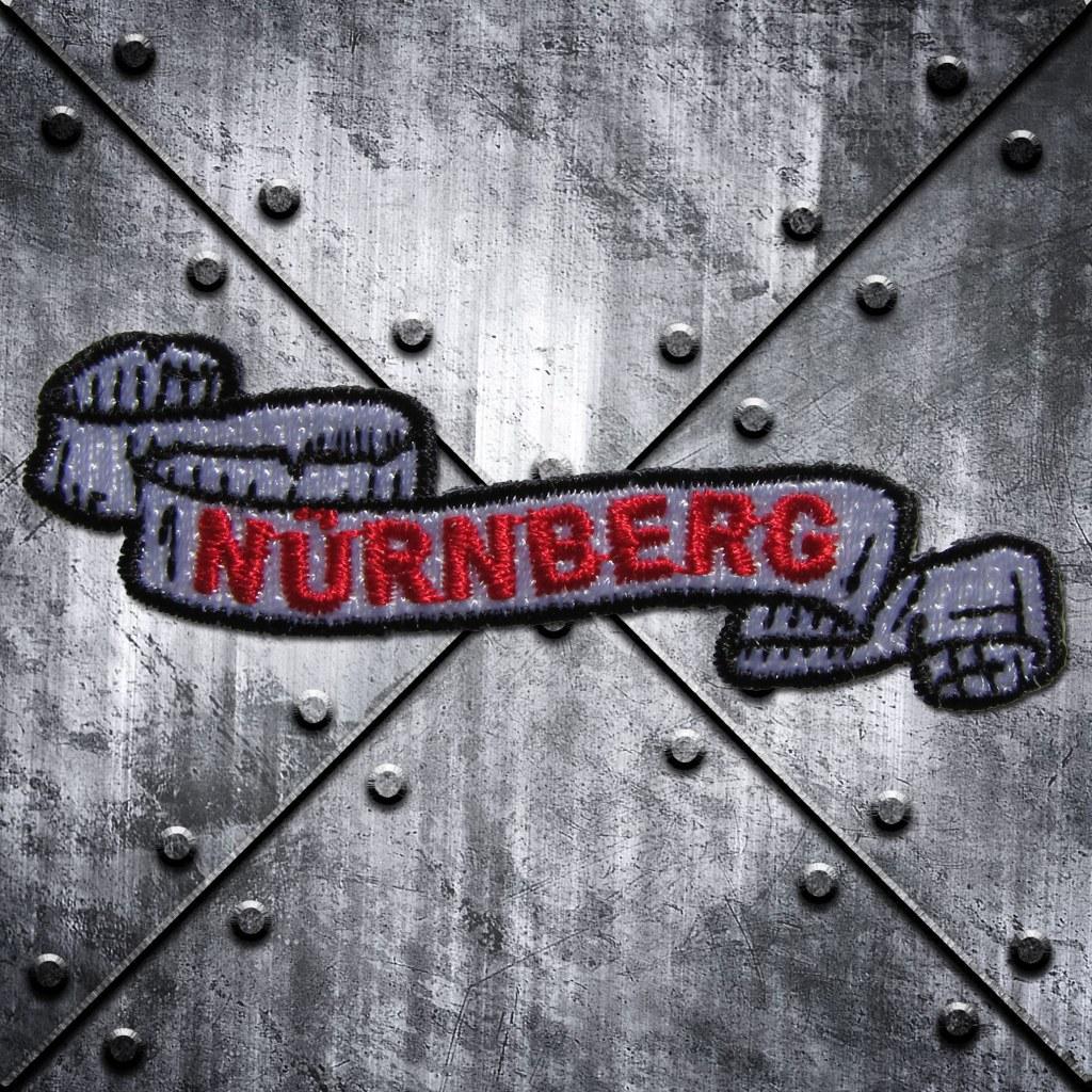 Aufnäher 'Nürnberg' Rot/Grau
