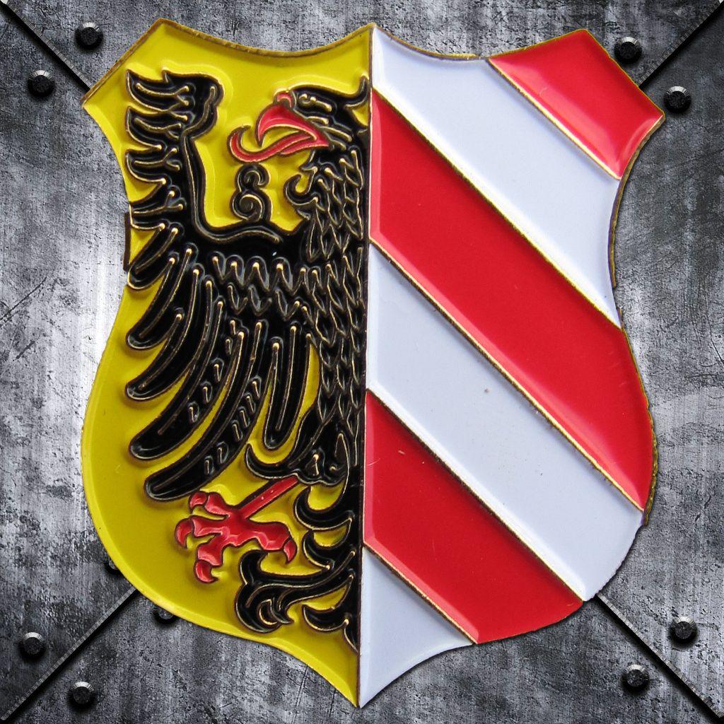 PIN 'Stadtwappen' Wappenform geschwungen