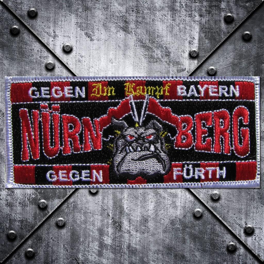 Aufnäher 'Nürnberg' 'Im Kampf gegen.............' Pitb