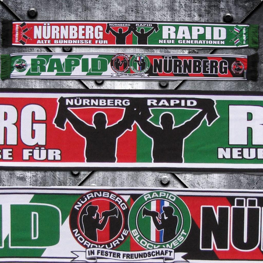 Schal (Polyester) 'Nürnberg / Rapid' Alte Bündnisse