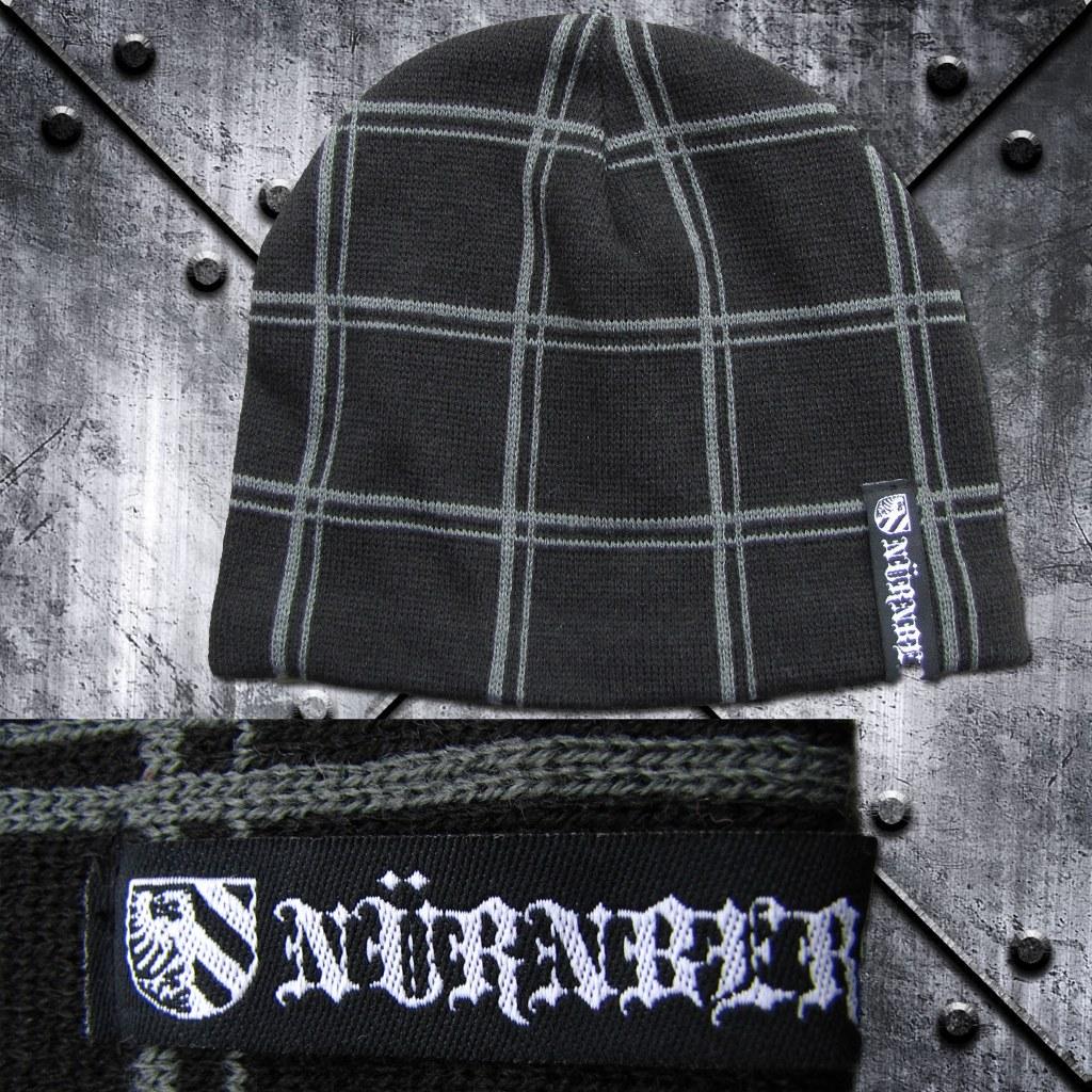 Wollmütze 'Nürnberg' Gittermuster