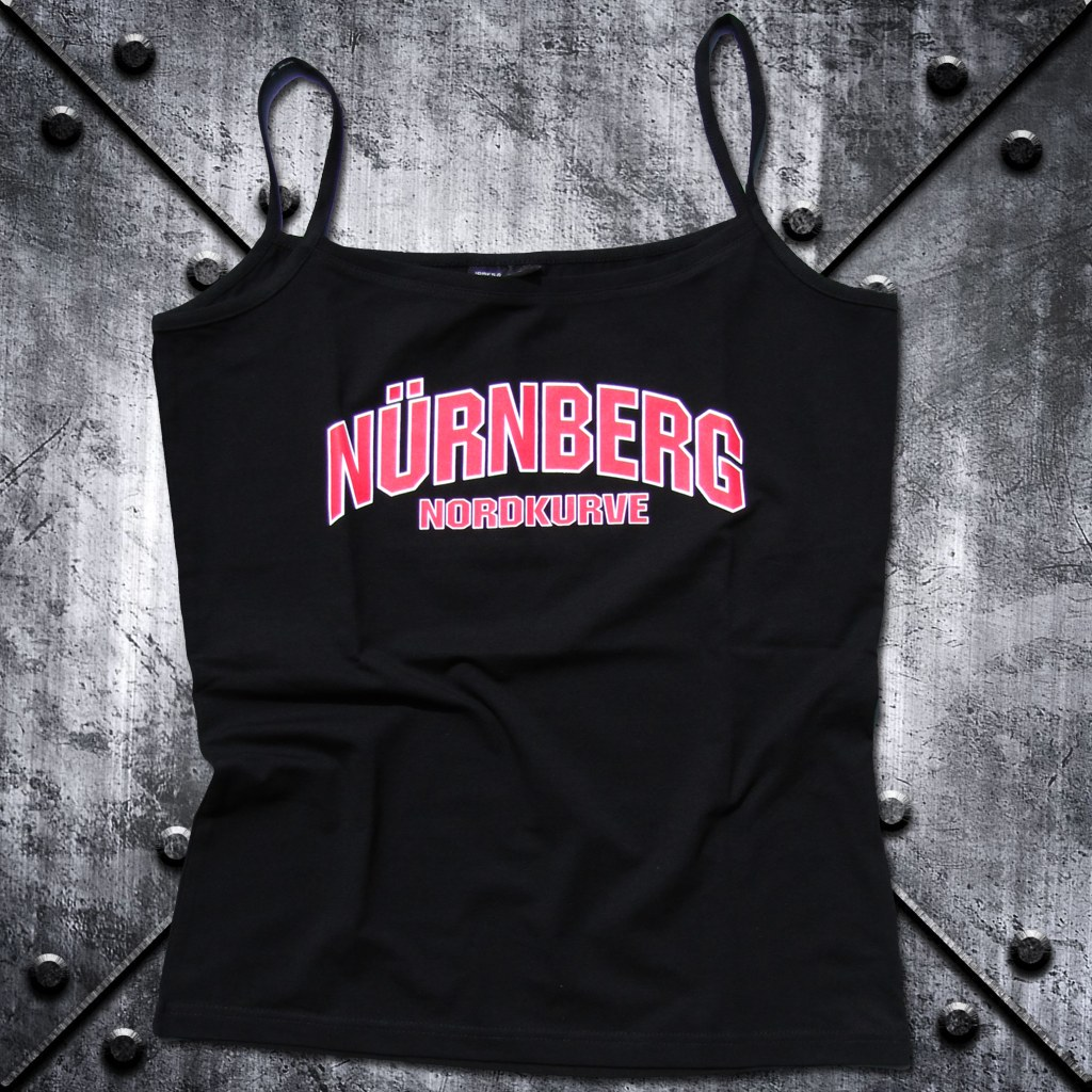 Damen T-Shirt 'Nürnberg Nordkurve' schwarz