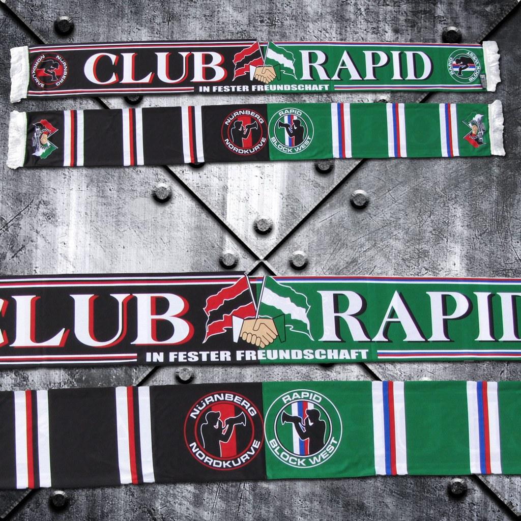Schal (Polyester) 'Club Rapid' Freundschaftsschal