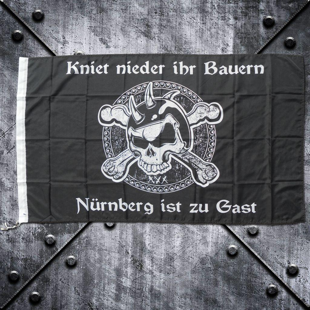 Fahne 'Nürnberg ist zu Gast'