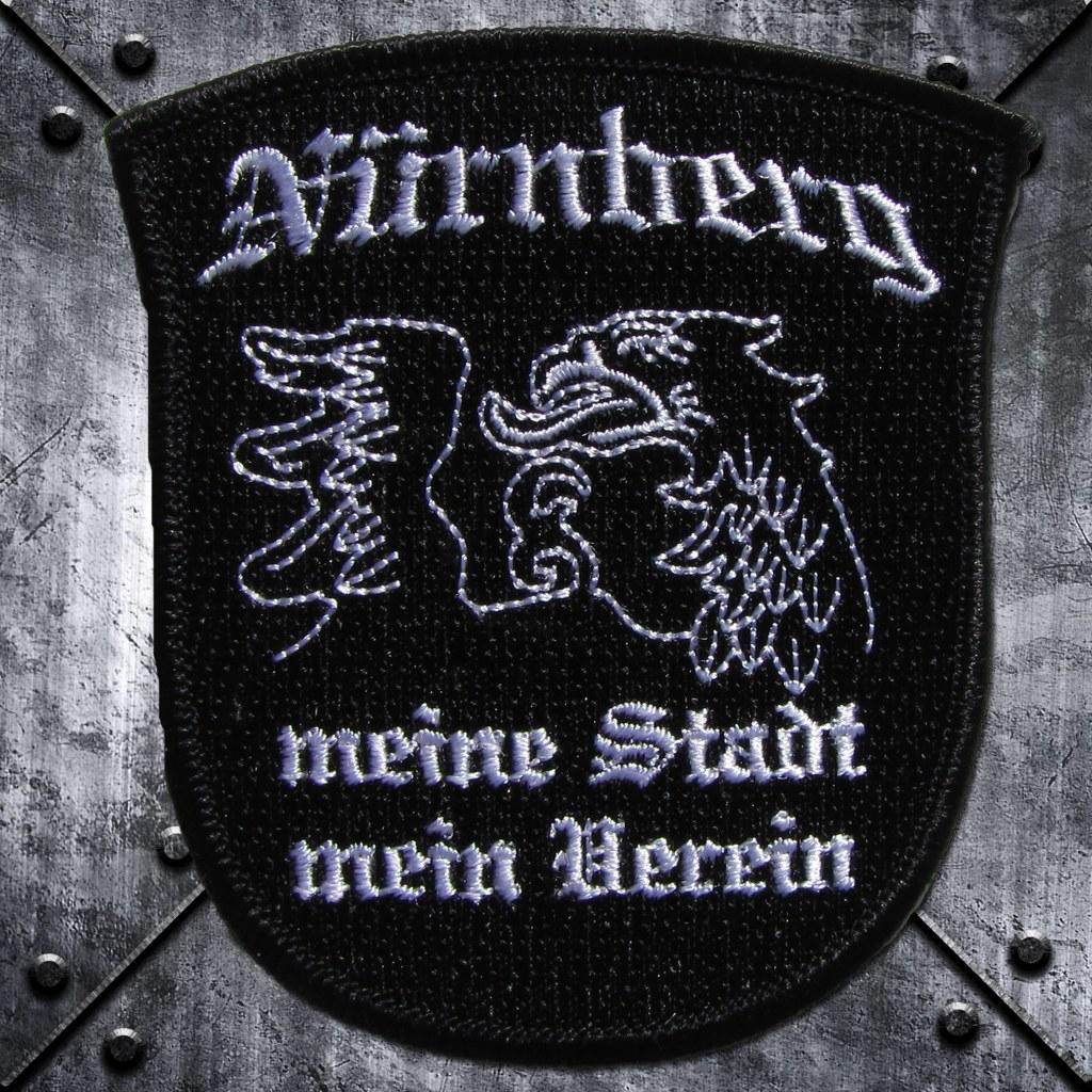 Aufnäher 'Nürnberg Meine Stadt Mein Verein' Adlerkopf