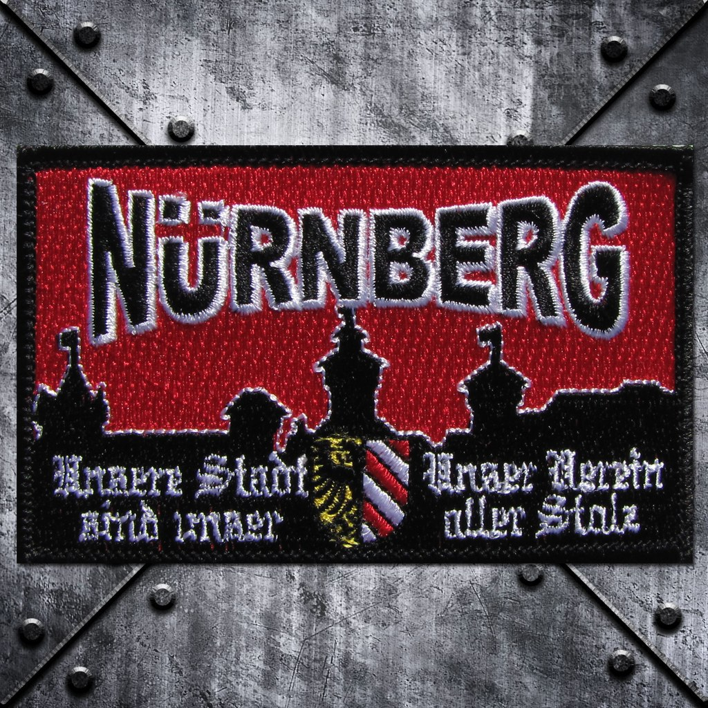 Aufnäher 'Nürnberg  Unsere Stadt Unser Verein sind uns