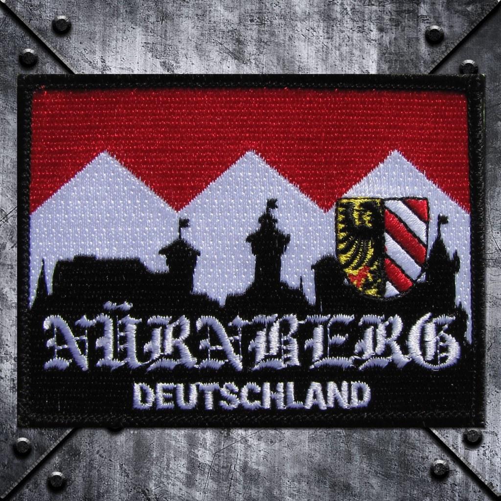 Aufnäher 'Nürnberg Deutschland' Burg und Stadtwappen