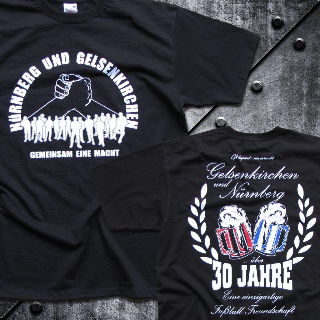T-Shirt 'Nürnberg und Gelsenkirchen'  30 Jahre