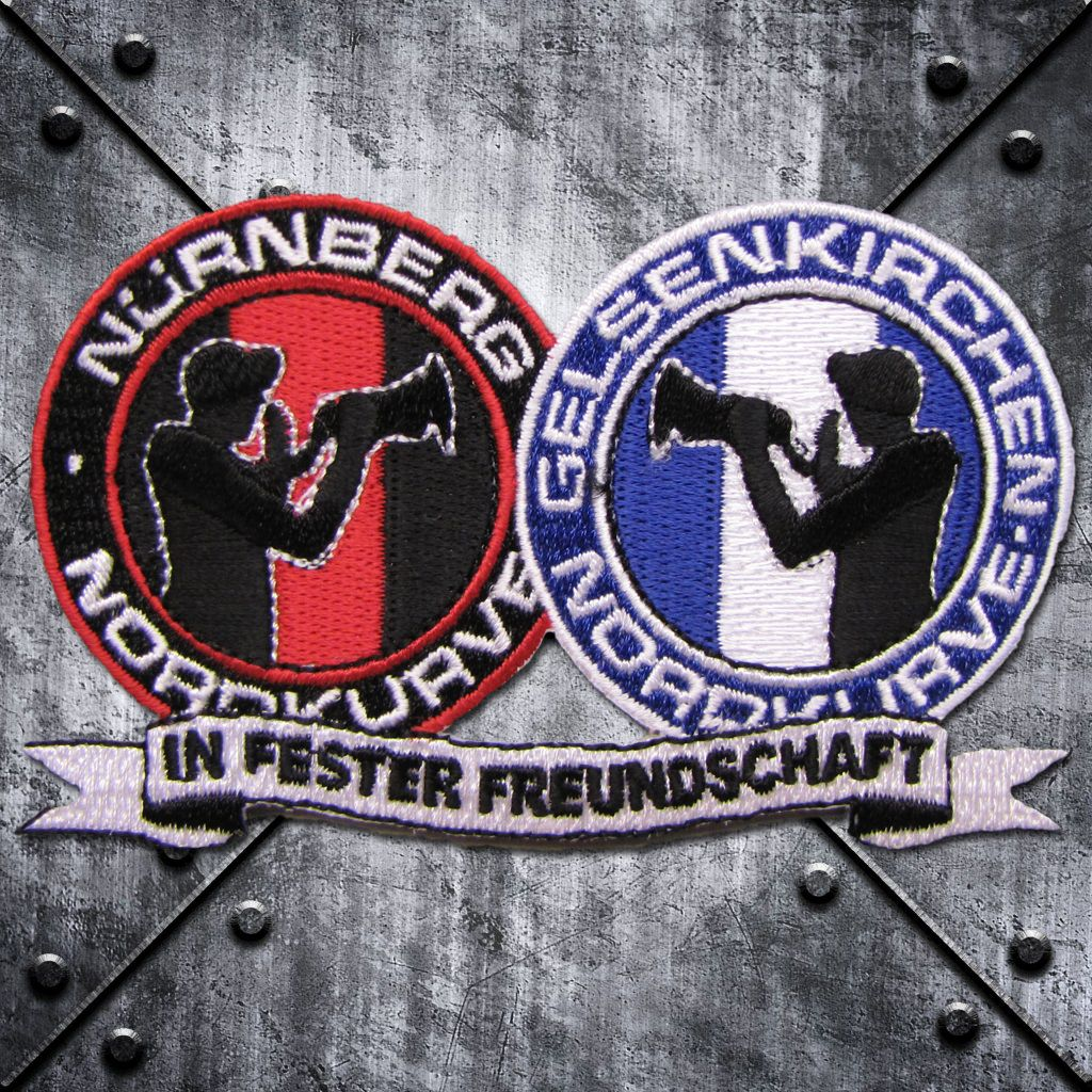 Aufnäher 'Nürnberg - Gelsenkirchen' Freundschaft