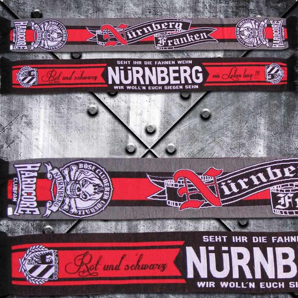 Schal `Nürnberg HARDCORE Clubfan