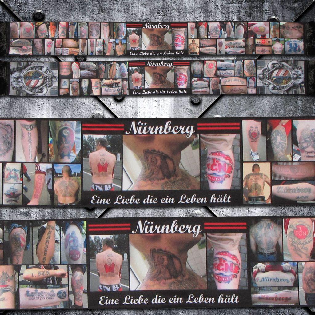 Polyesterschal `Nürnberg Tattoo