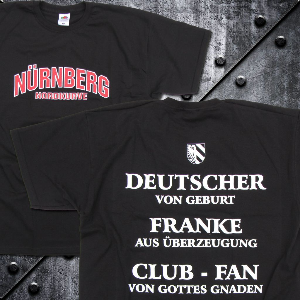 T-Shirt 'Nürnberg - Nordkurve' SCHWARZ
