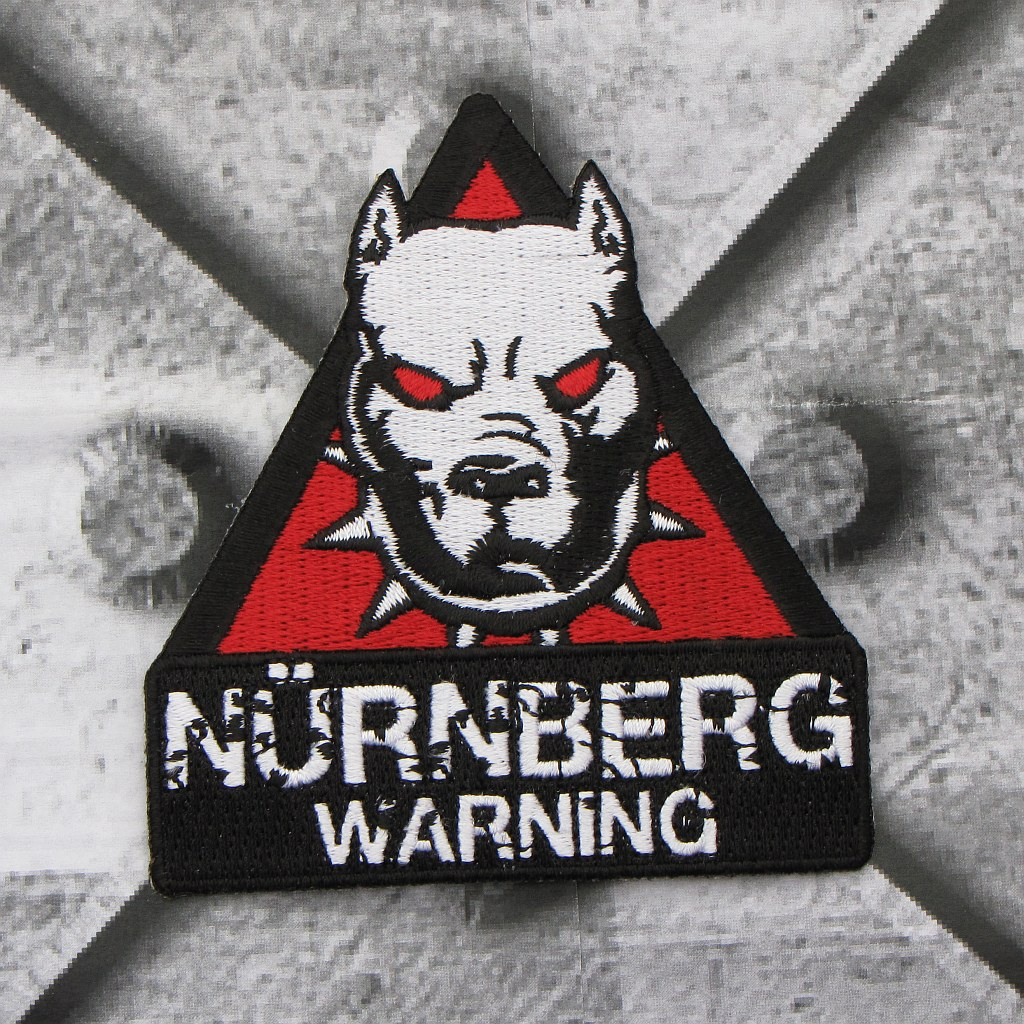 Aufnäher 'Nürnberg Warning'