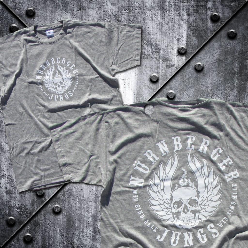 T-Shirt 'Nürnberger Jungs' GRAU