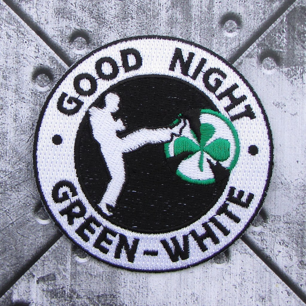 Aufnäher 'Good Night Green-White'