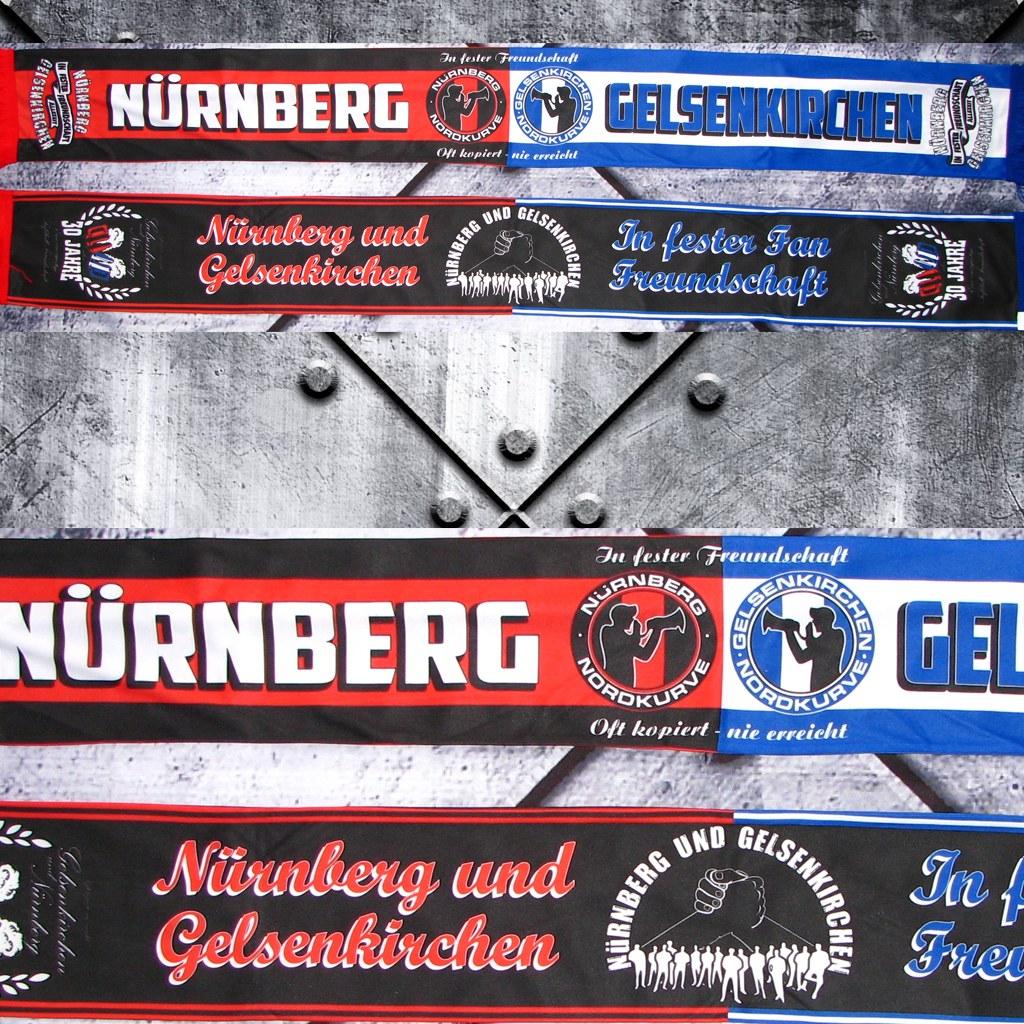 Polyester Schal  - Nürnberg & Gelsenkirchen