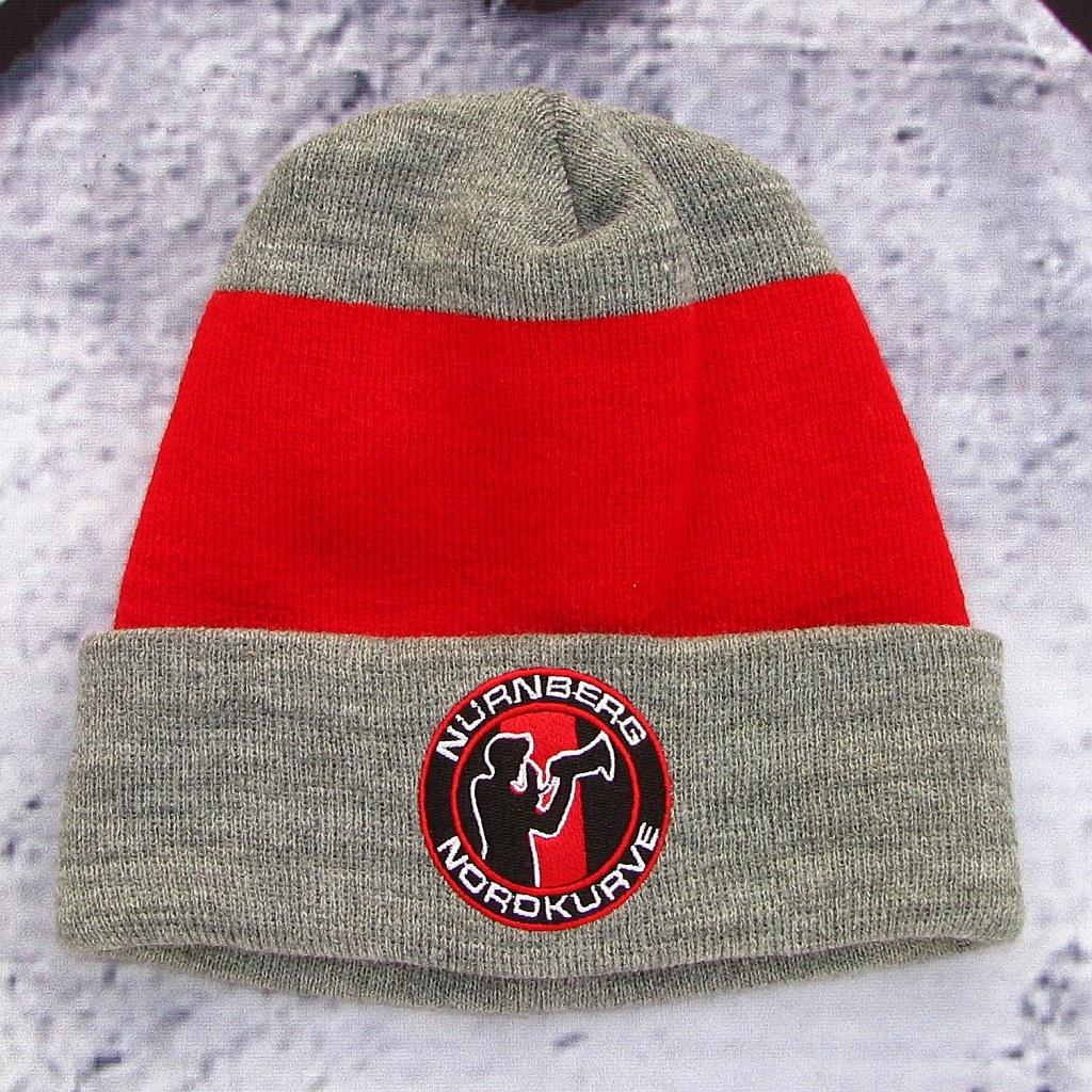 Mütze - Nordkurve (grau/rot)