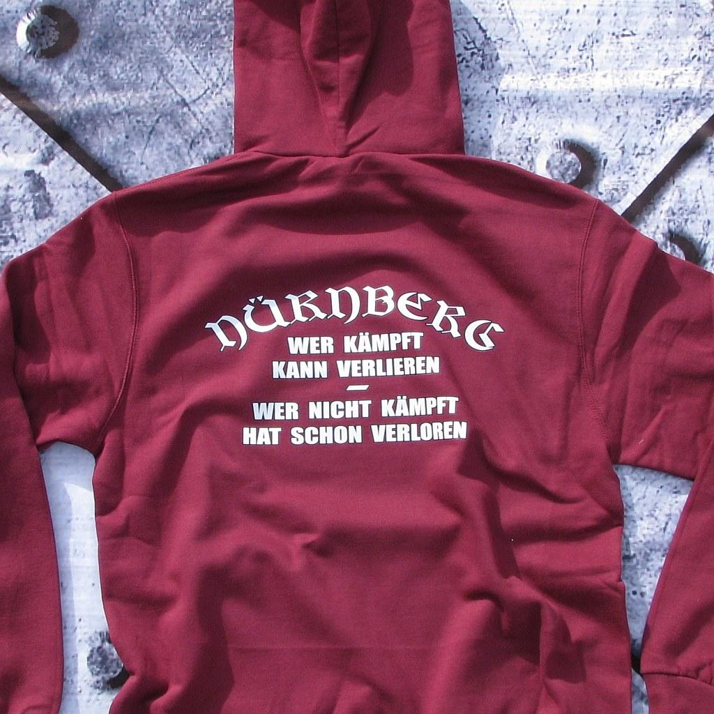 Kapuzensweat Shirt beidseitig bedruckt  'Nürnberg' Wer kämpft