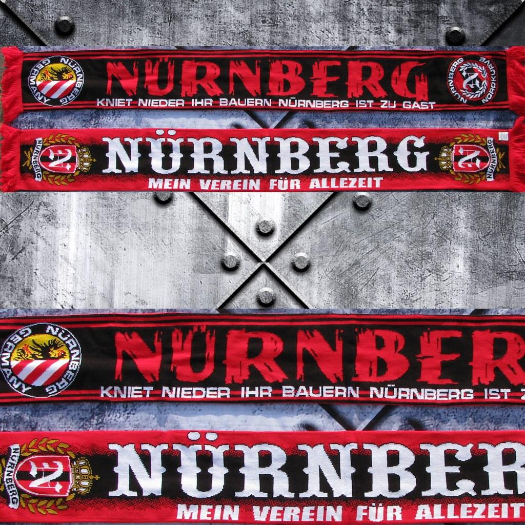 HD Jaquard Schal - kniet nieder Nürnberg ist zu Gast