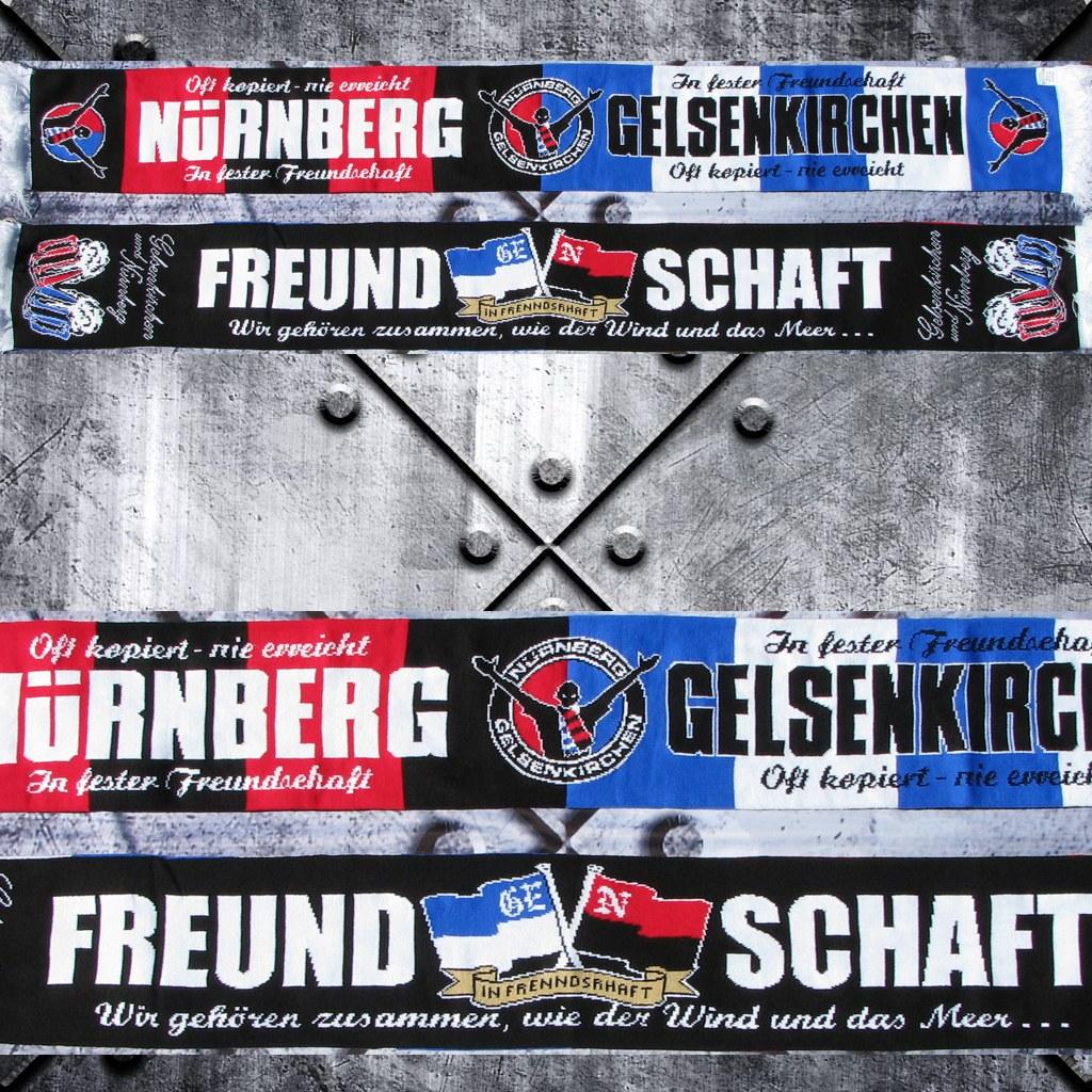 HD Jaquard Schal - Gelsenkirchen / Club oft kopiert nie erreicht