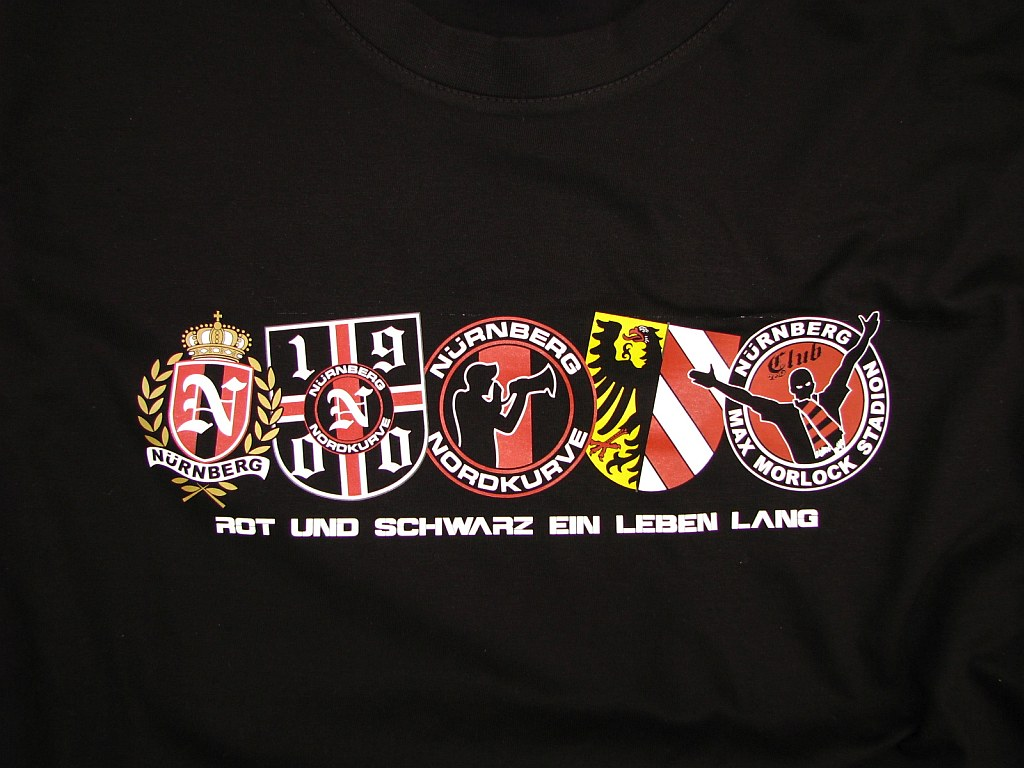 Shirt - Rot und schwarz ein Leben lang