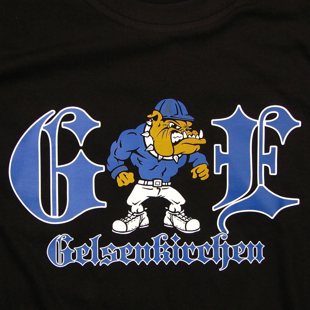 T- Shirt einseitig bedruckt  - Gelsenkirchen Bulldogge