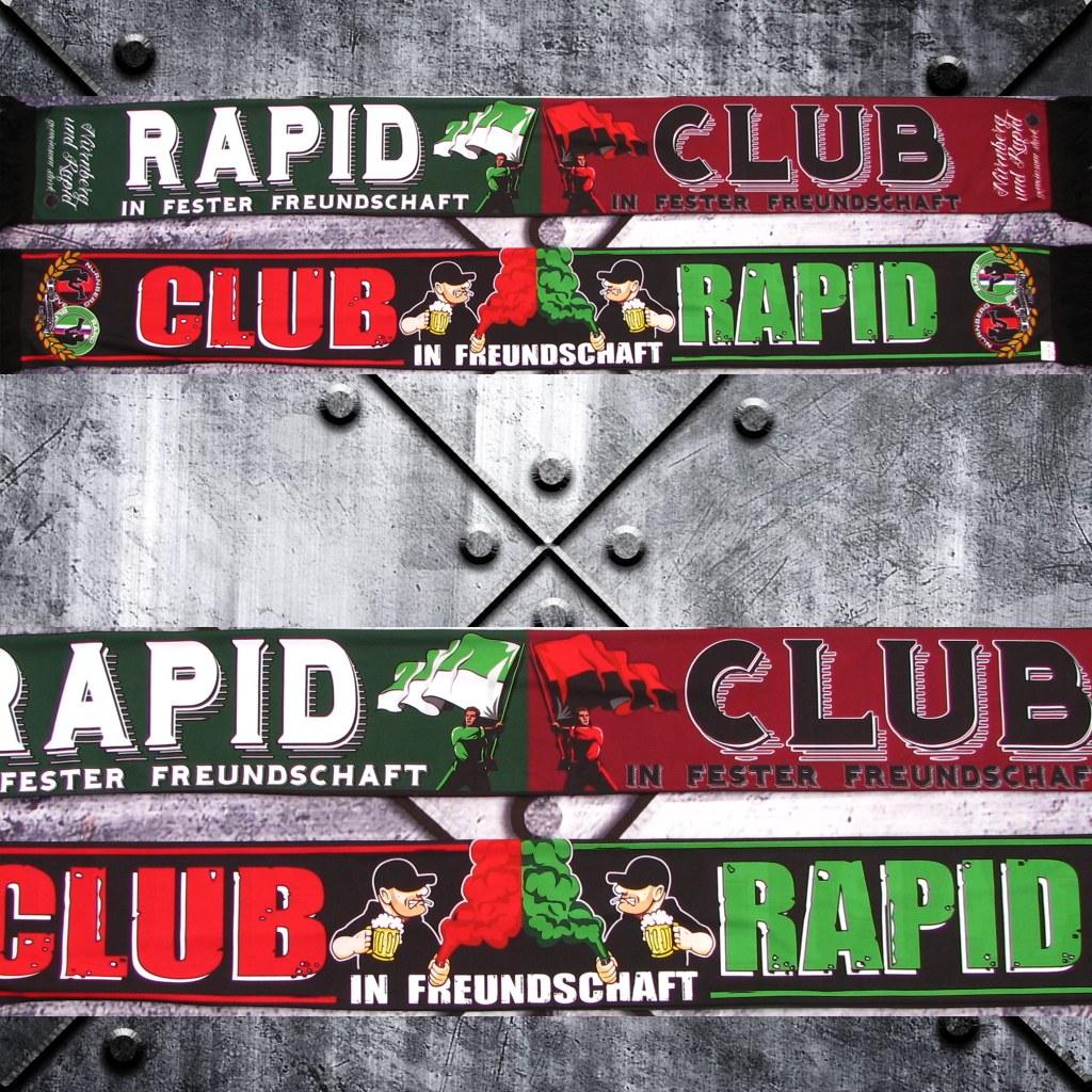Poly Schal - Rapid und Club in fester Freundschaft - Bier