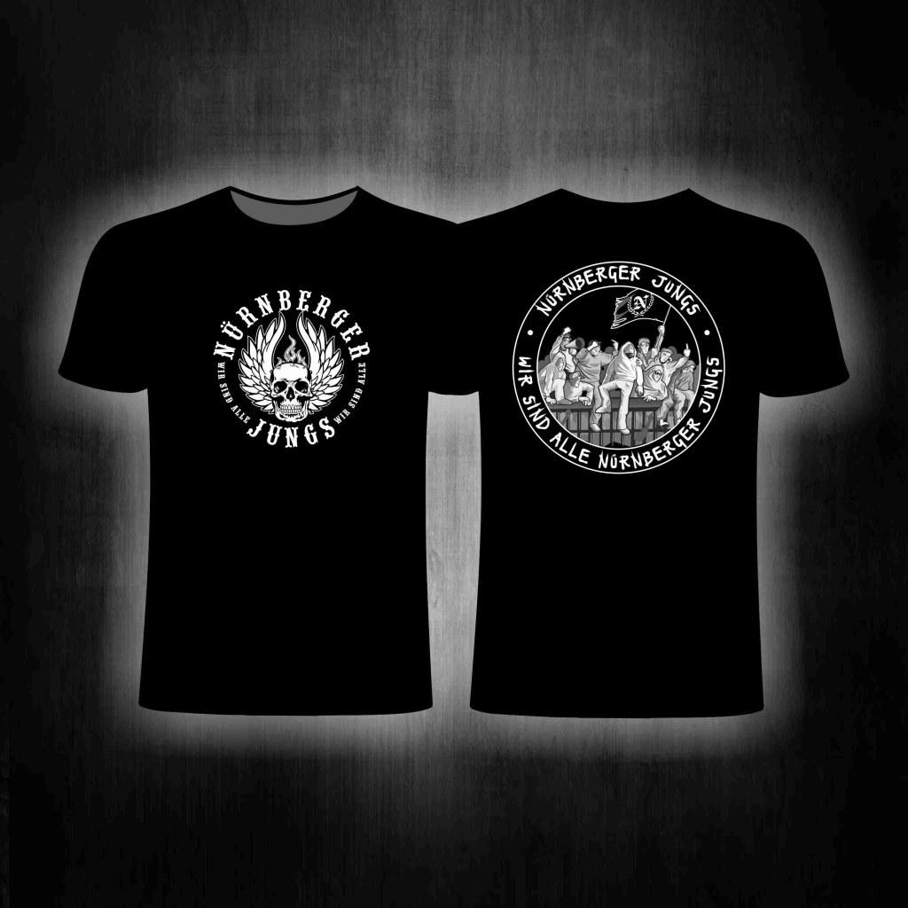T-Shirt  beidseitig bedruckt 'Nürnberger Jungs' SCHWARZ