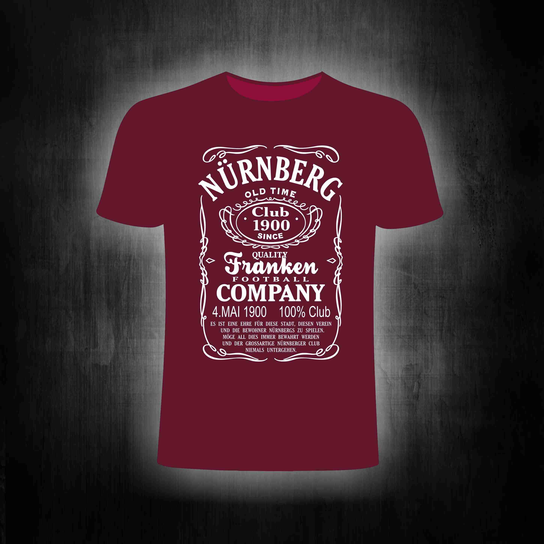 T-Shirt einseitig bedruckt - Football Company Tradition (weinrot