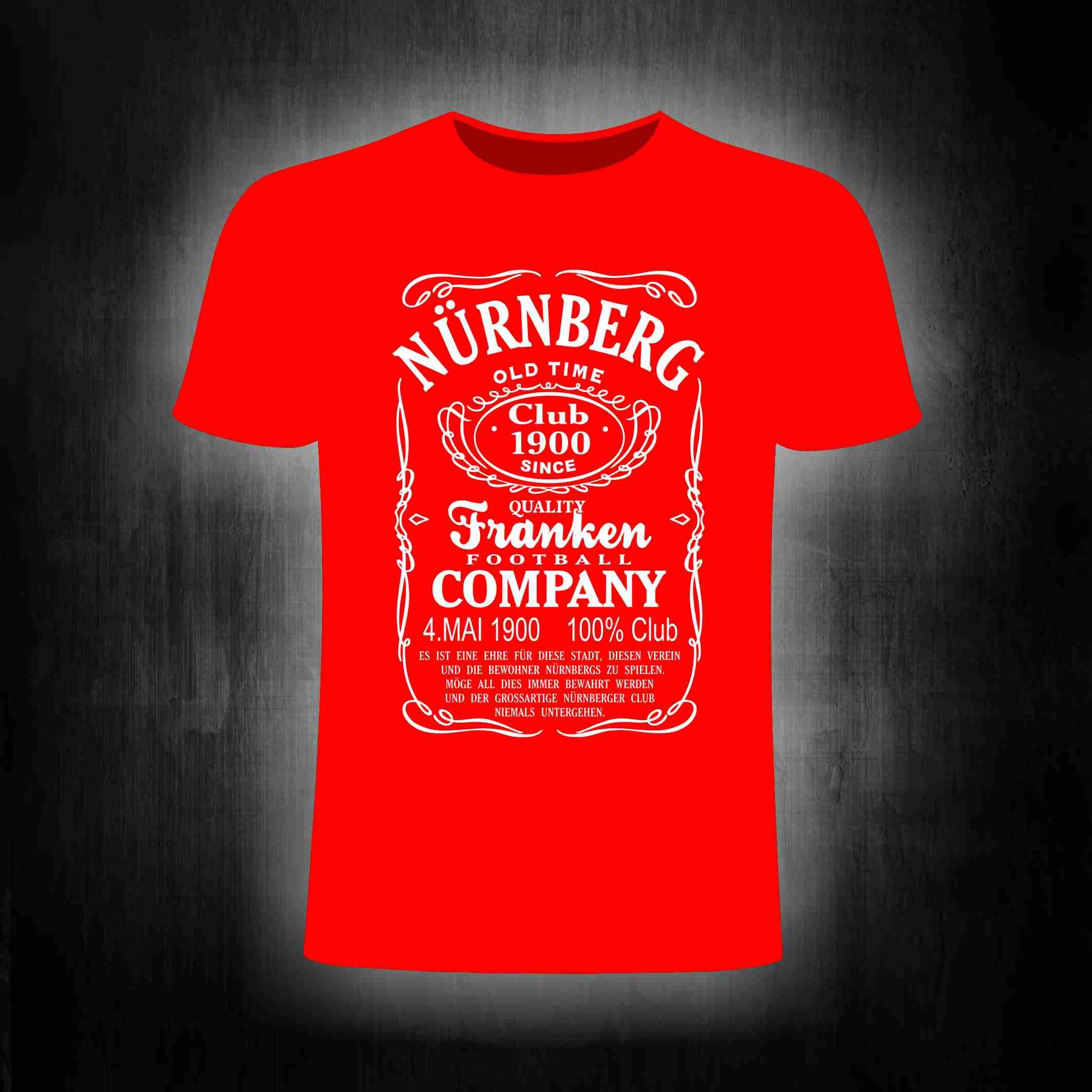 T-Shirt einseitig bedruckt Nürnberg Old Time Shirt
