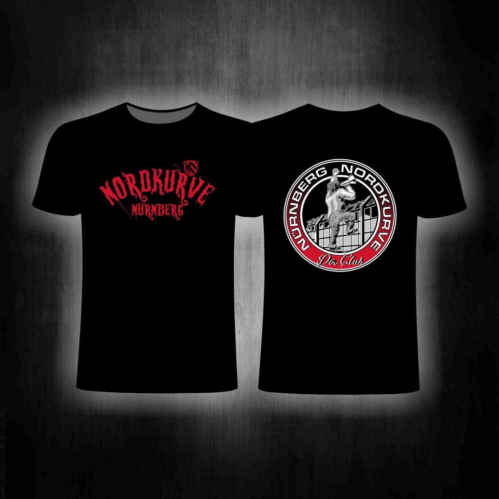 T-Shirt beidseitig bedruckt  - Nordkurve Megafon