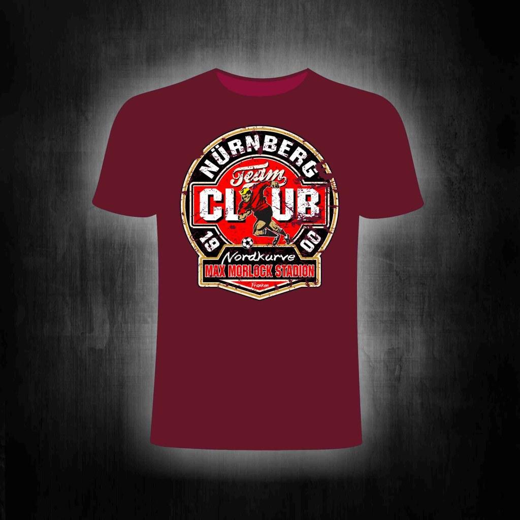 T-Shirt einseitig bedruckt   Vintage Max Morlock Stadion (rot)