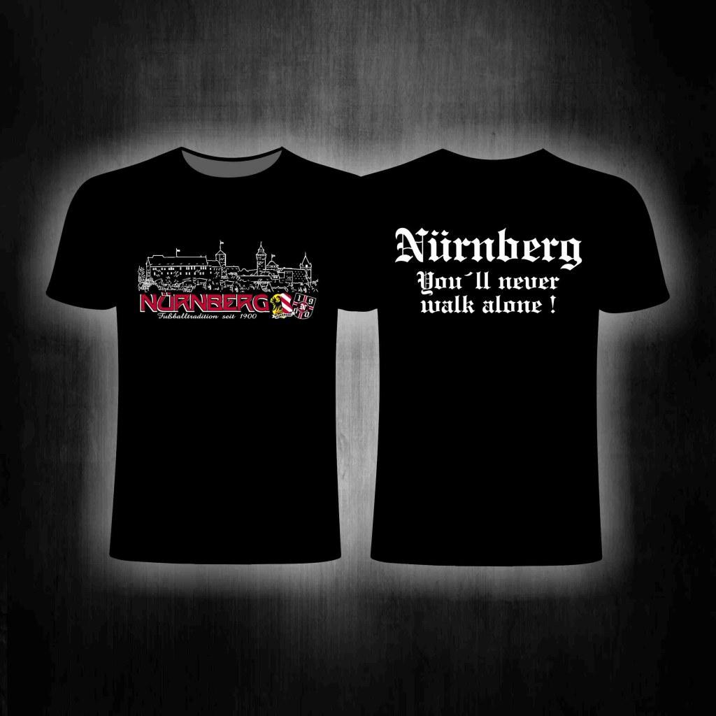 T-Shirt beidseitig bedruckt  - Nürnberg Fussballtradition seit