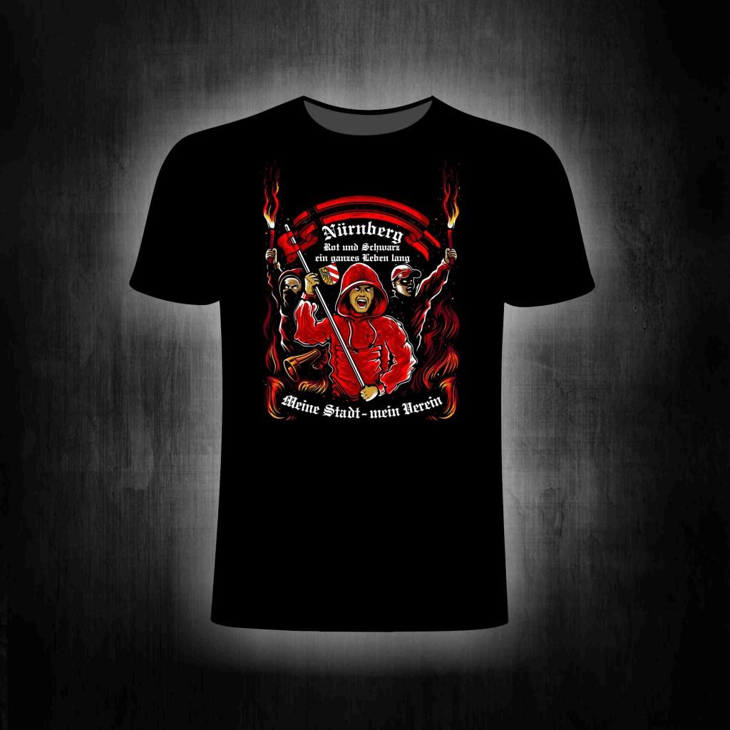 T-Shirt einseitig bedruckt - Meine Stadt mein Verein (fullcolor)