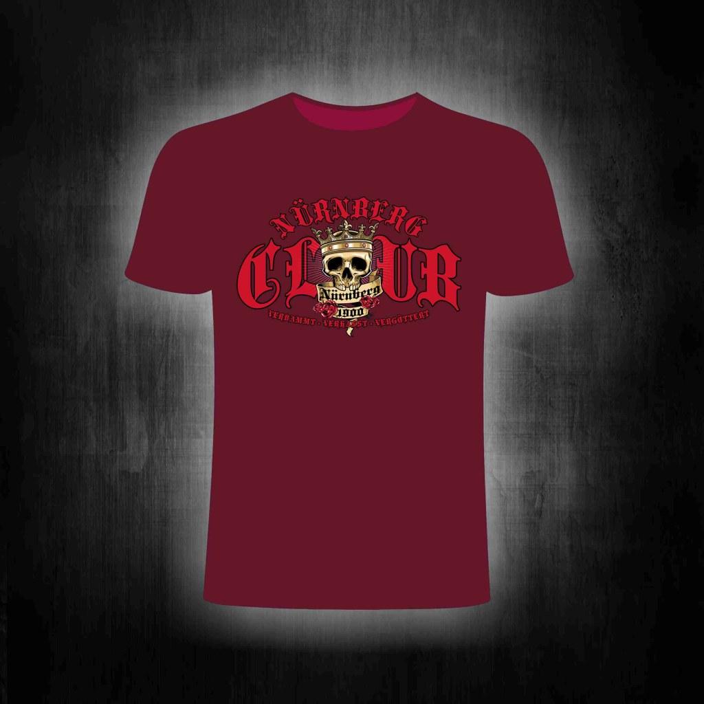 Shirt - Verdammt verhasst vergöttert (King Skull Edition) red