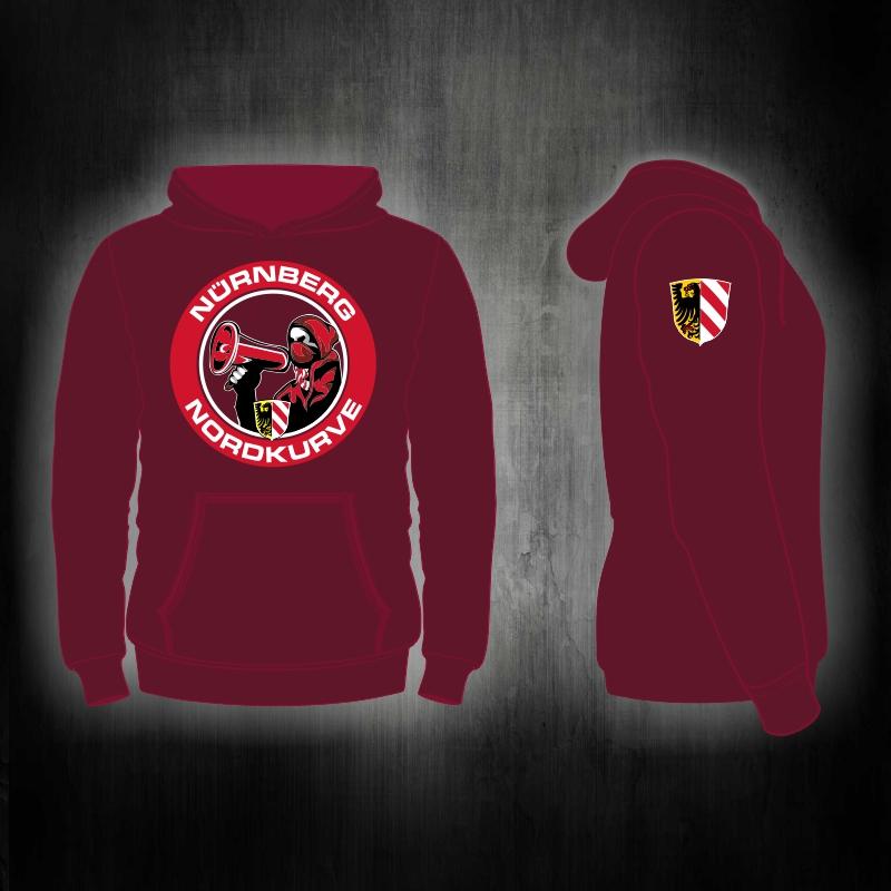 Kapuzensweat Shirt  Nordkurve Megafon (red edition)