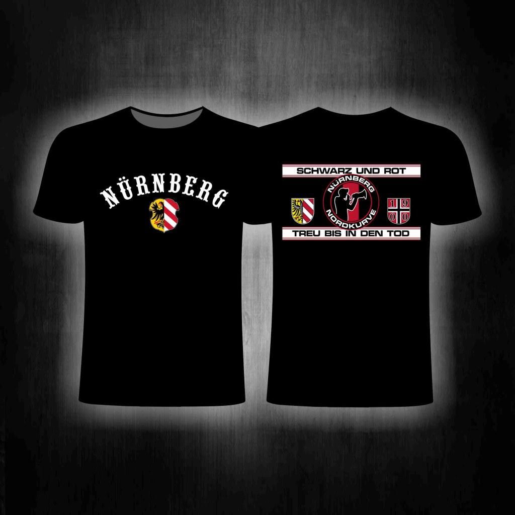 T-Shirt beidseitig bedruckt 'Nürnberg  You'll never walk alone'