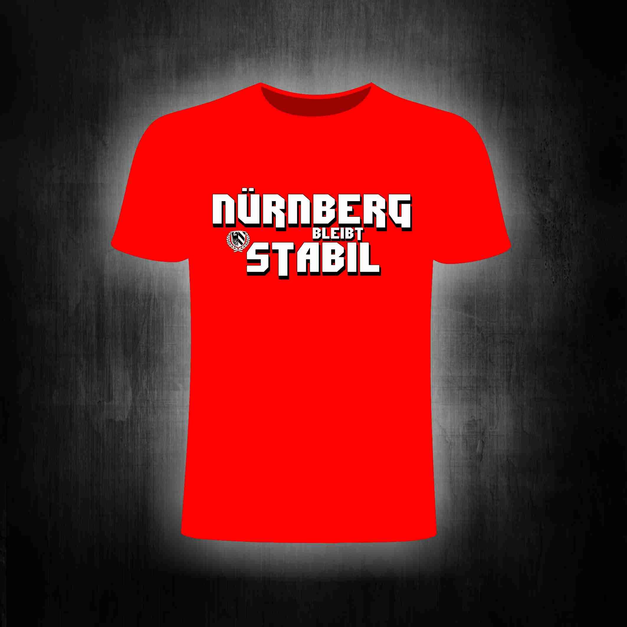 T-Shirt einseitig bedruckt - Nürnberg bleibt stabil