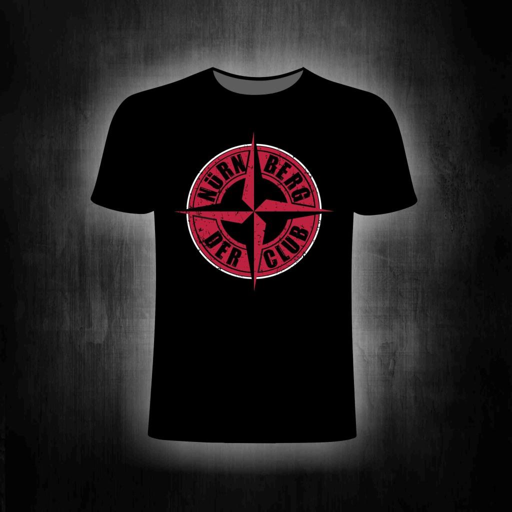 T-Shirt einseitig bedruckt  - Nürnberg Kompass oldschool style