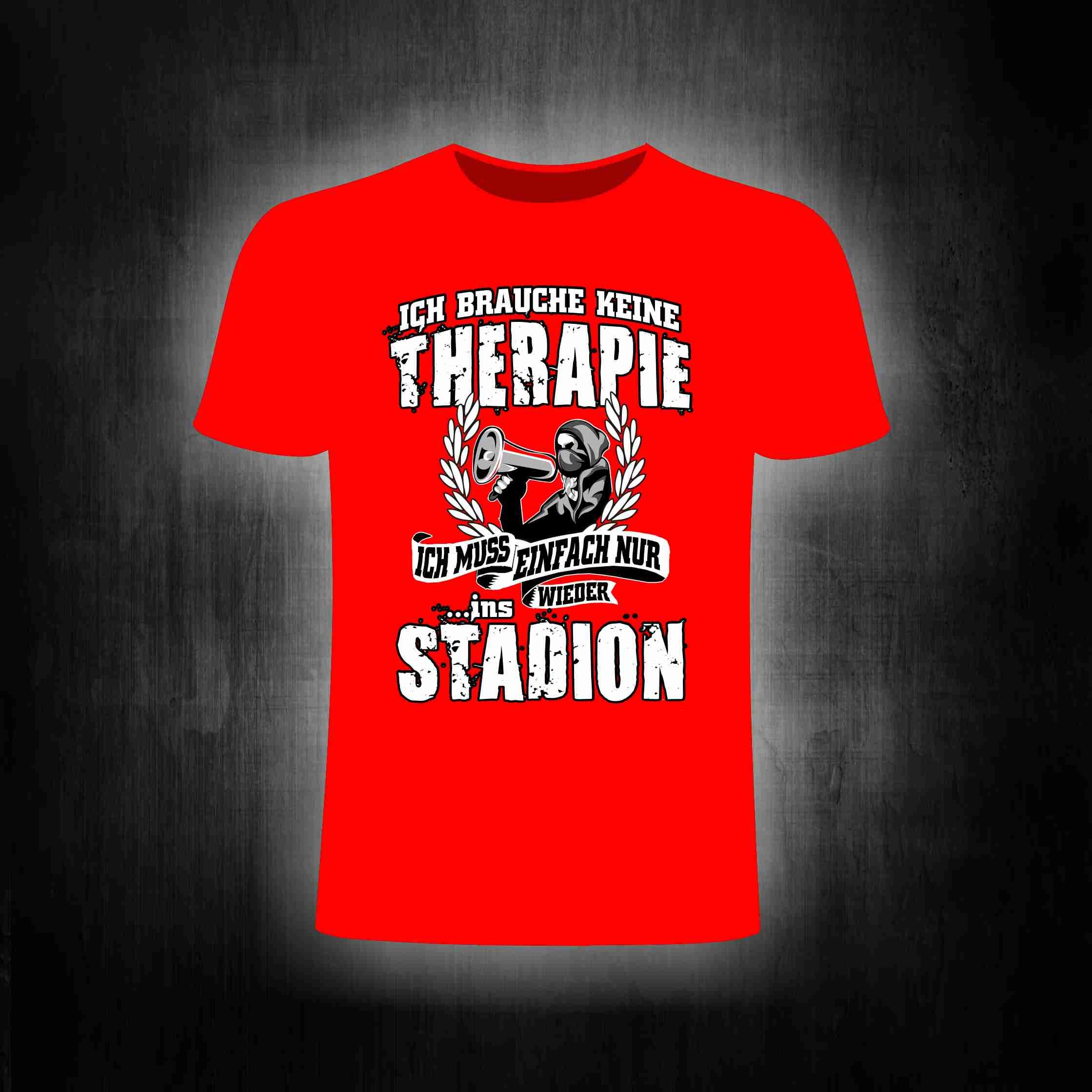 T-Shirt einseitig bedruckt - Stadion Therapie